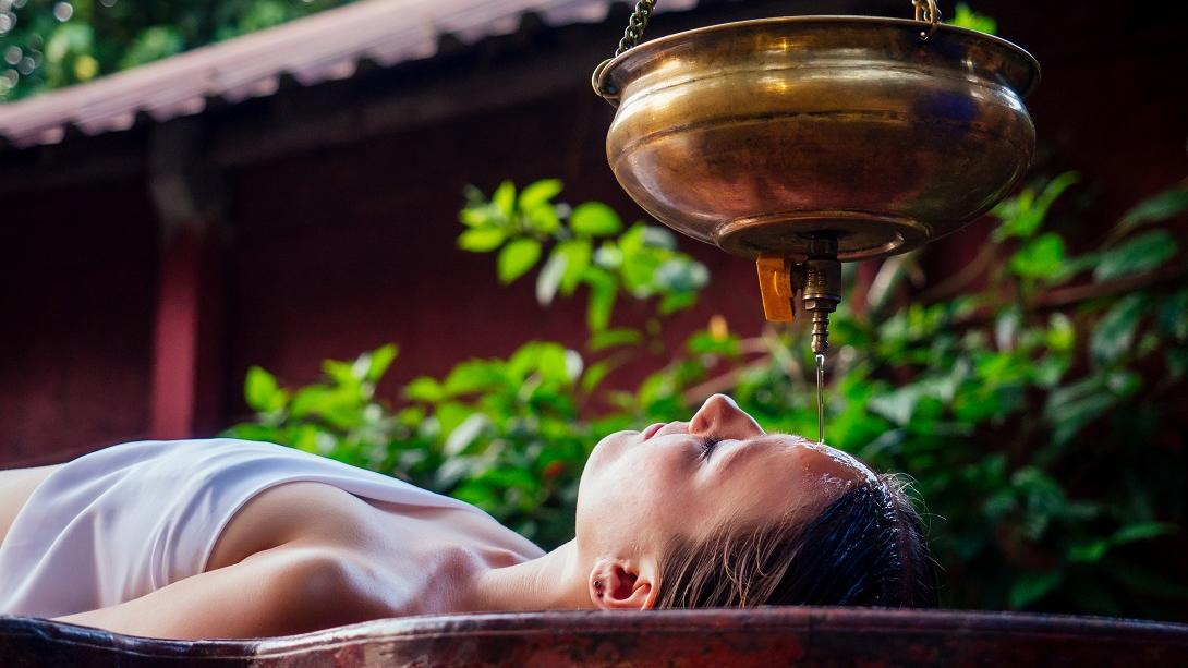 Traveller learns about the healing effects of Ayurveda therapy during her Discovery Tour in India.